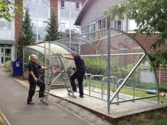 BDS Cycle Shelter - 10 Space Cycle Shelter & Bike Stands