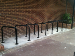 Black & Galvanised Traditional Sheffield Bike Stand