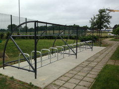 BDS Bike Shelter - 30 Space Shelter & bike stands