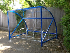 BDS Cycle Shelter - 6/8 Space Cycle Shelter & Bike Stands (Mini)
