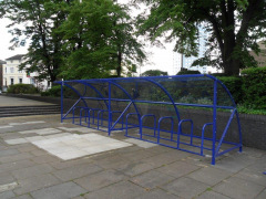 BDS Cycle Shelter - 20 Space Shelter & bike stands