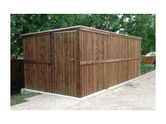 Extended Front Recycle Bike Shed